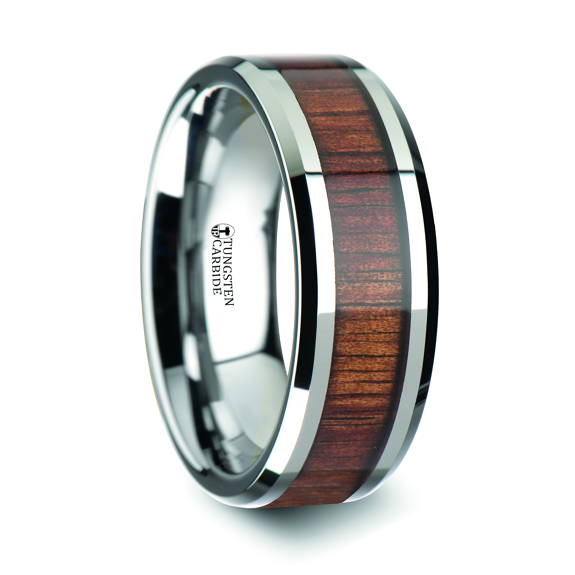 brushed rings tungary grooved band tungsten wedding black carbide products blue size engagement img mens