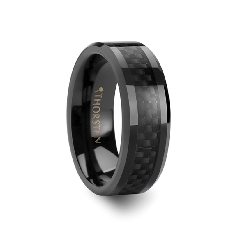 ONYX Black Ceramic Ring Hanebrink Jewelers