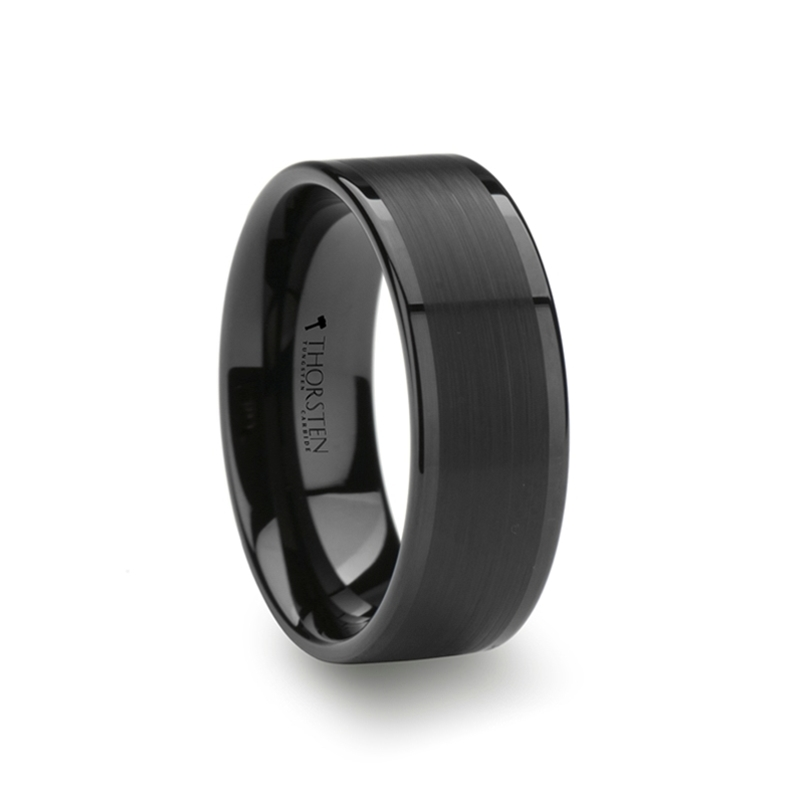 VULCAN Flat Black Tungsten Ring Hanebrink Jewelers